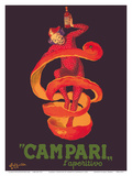 Campari L'Aperitivo (Campari Aperitif) - Clown Wrapped in Orange Peel Reproduction d'art par Leonetto Cappiello