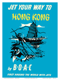 Jet Your Way to Hong Kong - by BOAC (British Overseas Airways Corporation)