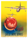 Fly British across the World - London to Sydney - Qantas Empire Airways
