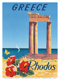 Greece - Rhodes - Monte Smith - Temple of Apollo (Acropolis of Rhodes)