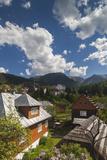 Romania  Maramures  Statiunea Borsa  Ski Resort  Spring  Village View
