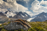 Mt Athabasca  and Mt Andromeda and Columbia Icefield  Jasper NP
