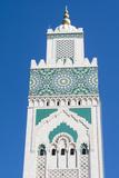 Casablanca  Morocco  Exterior Steeple Famous Hassan II Mosque
