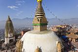 Swayamhunath Buddhist Stupa or Monkey Temple  Kathmandu  Nepal