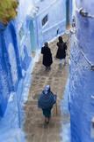 Narrow Lane  Chefchaouen  Morocco