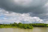 Scenery Along the Kaladan River  Rakhine State  Myanmar