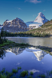 Mount Assiniboine and Mount Magog as Seen from Sunburst Lake