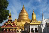 Shwezigon Pagoda  Bagan  Mandalay Region  Myanmar