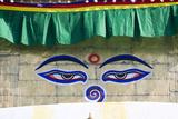 Holy Eyes of the Monkey Temple  Kathmandu  Nepal