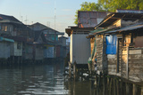 Stilt Houses on the River  Banjarmasin  Kalimantan  Indonesia