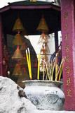 Asia  China  Macau  A-Ma Temple in Macau with Incense Burning