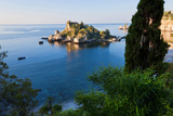 View of Isola Bella Island  Taormina  Sicily  Italy