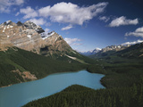 Canada  Alberta  Banff National Park  Mountains and Peyto Lake