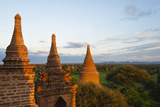 Ancient Temples and Pagodas at Sunset  Bagan  Mandalay Region  Myanmar