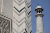 India  Agra  Taj Mahal Memorial to Queen Mumtaz Mahal Geometric Wall