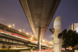 China  Chongqing  Overhead Expressways on Autumn Evening