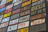 Australia  Alice Springs Display of Assorted License Plates