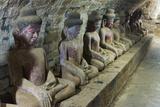 Buddhist Statues in Shitthaung Temple  Mrauk-U  Rakhine State  Myanmar