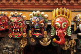 Folk Art of Nepal  Paper Mache Masks