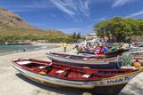 Fishing Boats on Beach  Tarrafal  Santiago Island  Cape Verde