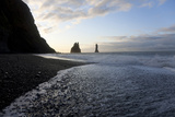 Reynisdrangar Rock Formations and Black Beach  Vik  Iceland