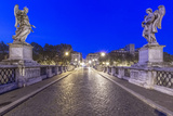 Italy  Rome  Ponte Sant'Angelo at Dawn
