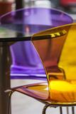Romania  Transylvania  Piata Sfatului Square  Transparent Cafe Chairs