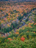 Michigan  Porcupine Mountains the Big Carp River in Autumn