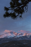 USA  Colorado Sunrise on Pikes Peak