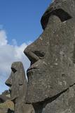 Chile  Easter Island Rapa Nui  Historic Site of Rano Raraku Moi Face