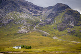 Solitary Small Home in Scottish Highlands Near Glencoe  Scotland  UK