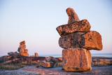 Canada  Nunavut  Rocks Cairns on Harbour Islands Along Hudson Bay