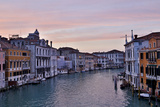 Sunset Boats on Grand Canal  Venice  Italy