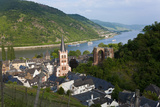 View over Bacharach and River Rhine  Rhine Valley  Germany