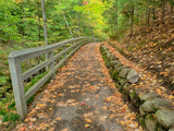 Michigan  Upper Peninsula Trail Leading to Munising Falls in Autumn