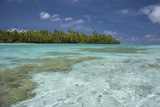 Cook Islands  Aitutaki One Foot Island  Shallow Lagoon with Coral