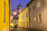 Alexander Nevsky Church in the Old Town at Dusk  Tallinn  Estonia