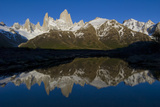 Cerro Fitzroy at Sunrise and Pothole Lake  Los Glaciares NP  Argentina