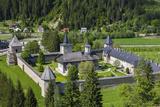 Romania  Sucevita  Sucevita Monastery  Exterior Elevated View