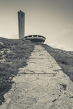 Bulgaria  Shipka Pass  Ruins of the Soviet-Era Buzludzha Monument