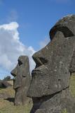 Chile  Easter Island Rapa Nui NP  Historic Site of Rano Raraku Moi