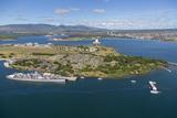 USS Missouri and USS Arizona Memorial  Pearl Harbor  Oahu  Hawaii