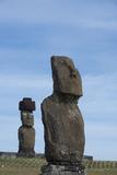 Chile  Easter Island  Hanga Roa Ahu Tahai  Standing Moai Statue