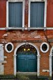 Shuttered Windows in Green  Venice  Italy