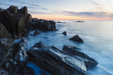 Dawn  Rocks  and Surf Wallis Sands State Park  Rye  New Hampshire
