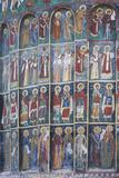 Romania  Sucevita  Sucevita Monastery  Exterior Religious Frescoes