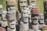 Chile  Easter Island Carved Volcanic Stone Moi Figures