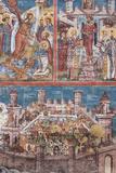 Romania  Bucovina  Vatra Moldovitei  Moldovita Monastery  Frescoes