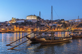 Port Wine Boats on Douro River  Oporto  Portugal