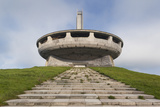 Bulgaria  Shipka Pass  Ruins of the Soviet-Era Buzludzha Monument